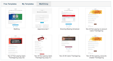 Import MailChimp Templates